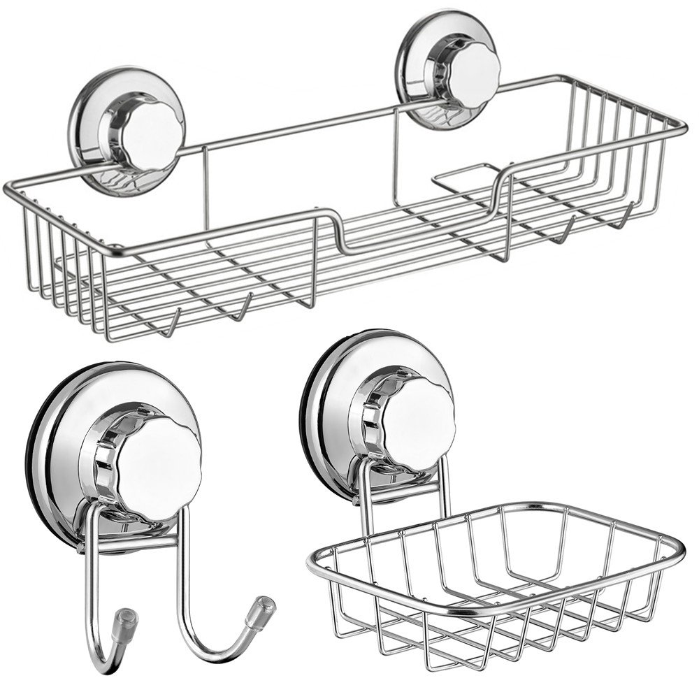 Suction cup shower caddy.