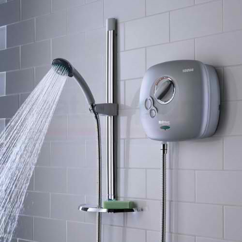 A typical Power Shower in the bathroom