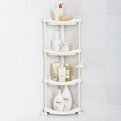A four tier shower organizer.