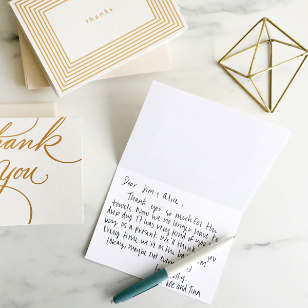when to send thank you cards for wedding gifts