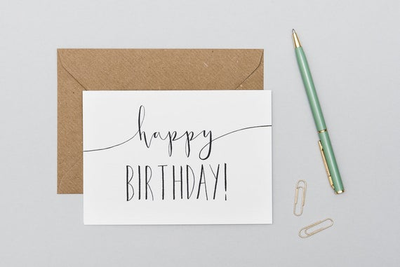 Send handwritten birthday cards automatically