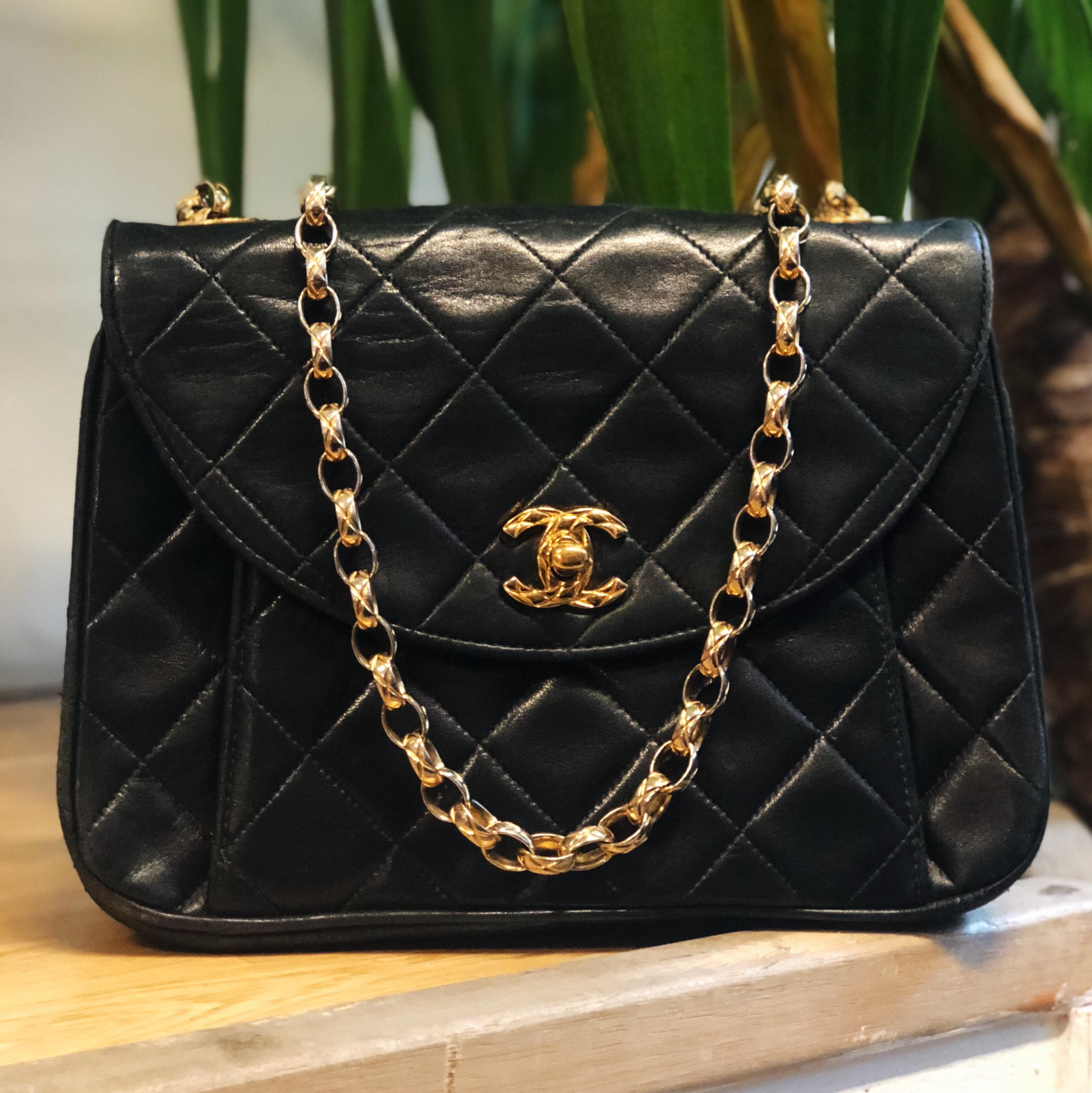 32a18f051ad7 Chanel Matelasse Mini Leather Flap Chain Bag