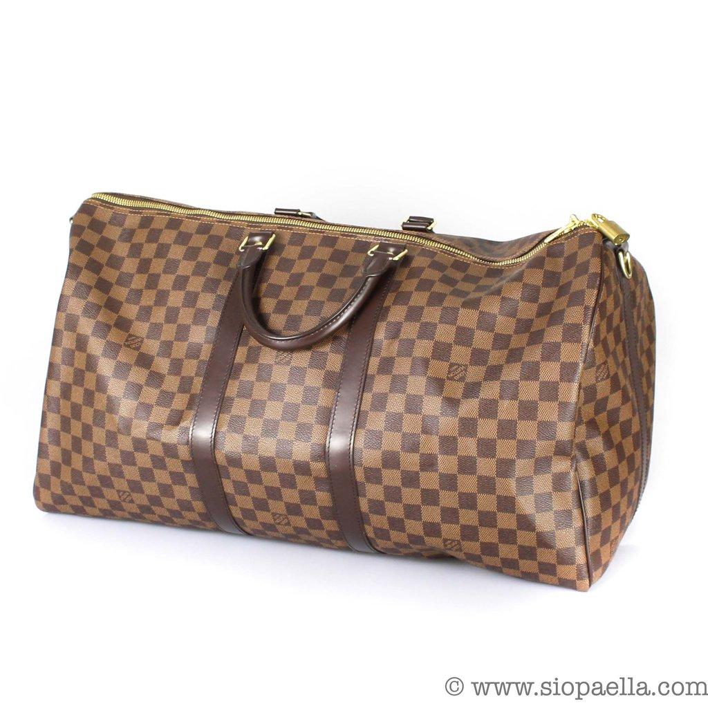 745187f8db64 Louis Vuitton Damier Ebene Keepall 55