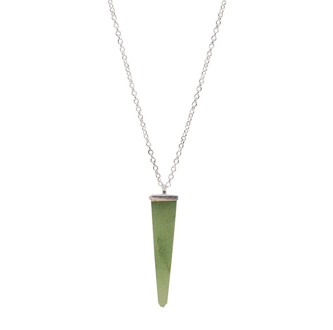 Collar Cuarzo Verde Plata 925