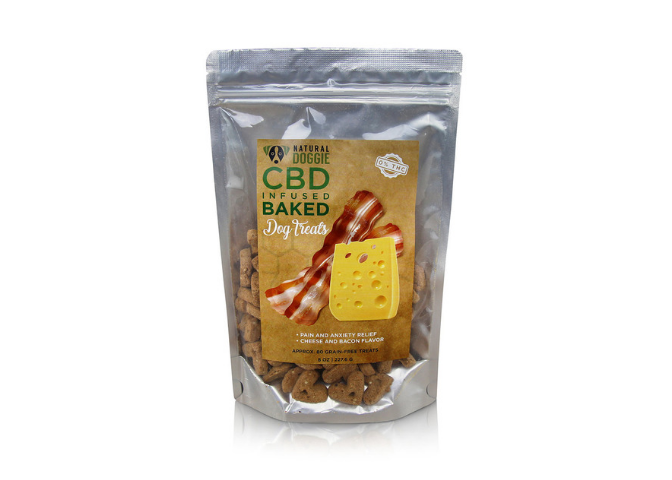 NATURAL DOGGIE HEMP INFUSED BACON AND CHEESE DOG TREATS
