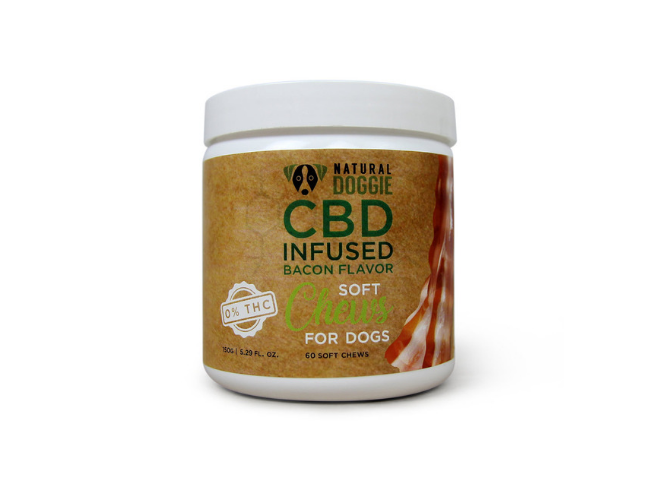Natural Doggie CBD Infused Bacon Flavor Soft Chews