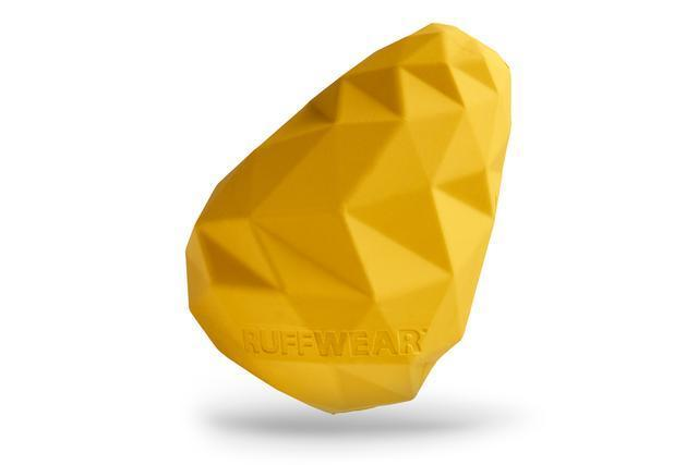 Yellow Ruffwear Gnawt-A-Cone puzzle toy for dogs