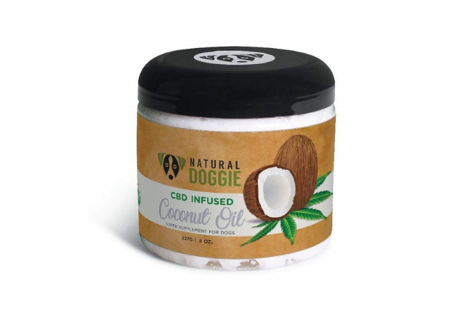 Natural Doggie CBD infused coconut oil