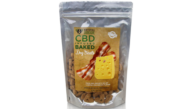 NATURAL DOGGIE HEMP INFUSED BACON AND CHEESE BAKED DOG TREATS