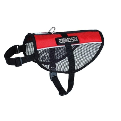 red mesh service dog and therapy dog vest