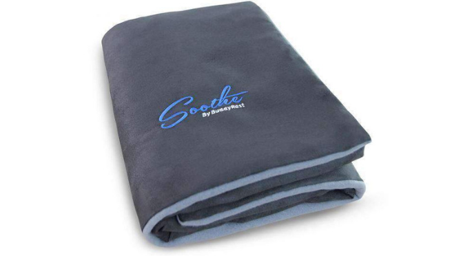 Soothe anti-anxiety weighted dog blanket by BuddyRest