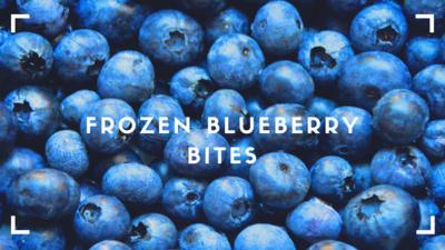 Frozen Blueberry Bites