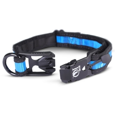 pupiq prisma reflective collar with magnetic clasp