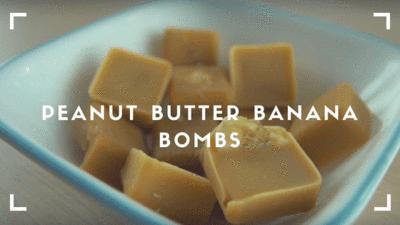 Peanut Butter Banana Bombs