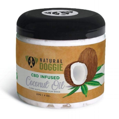 CBD infused coconut oil for dogs is great for anxiety and PTSD