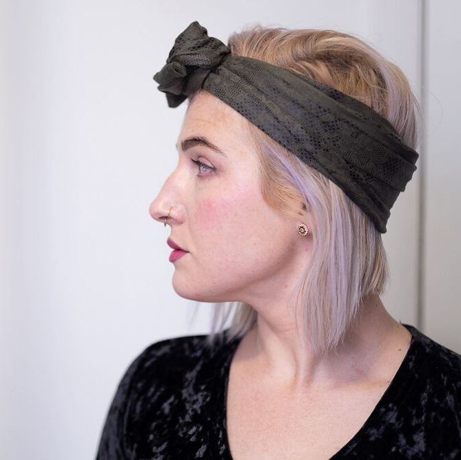 "Limited Edition ""Nagini"" Vegan Suede Maxi Wire-Framed Headband"