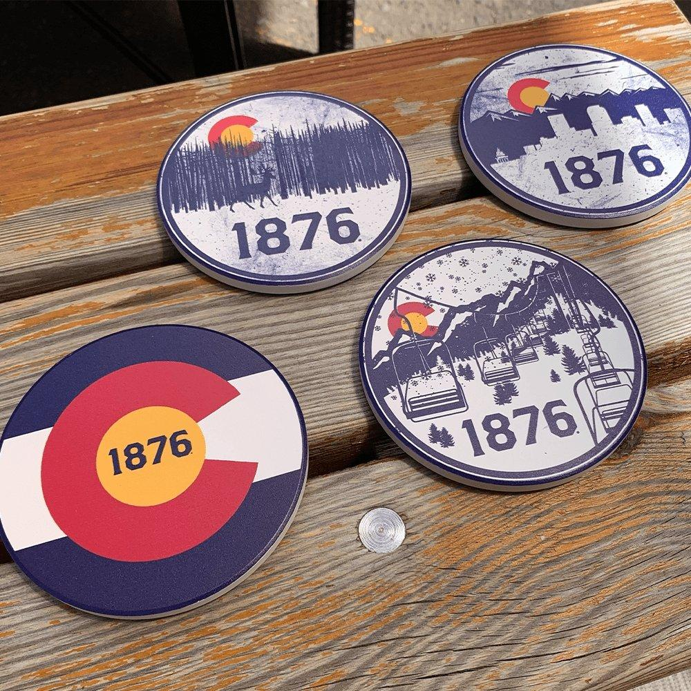 The Colorado Coastline Set - Colorado Coasters for Home - Colorado Christmas Gift Guide