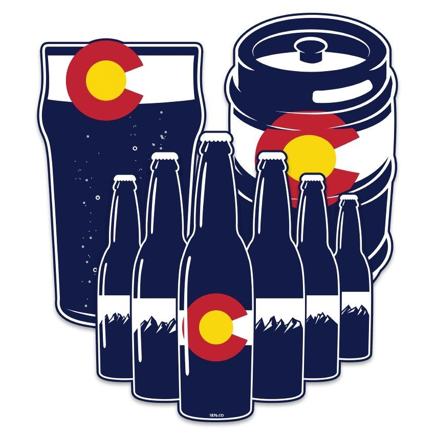 CO Craft Vinyl Decal Bundle - Colorado Craft Beer Stickers - Colorado Christmas Gift Guide