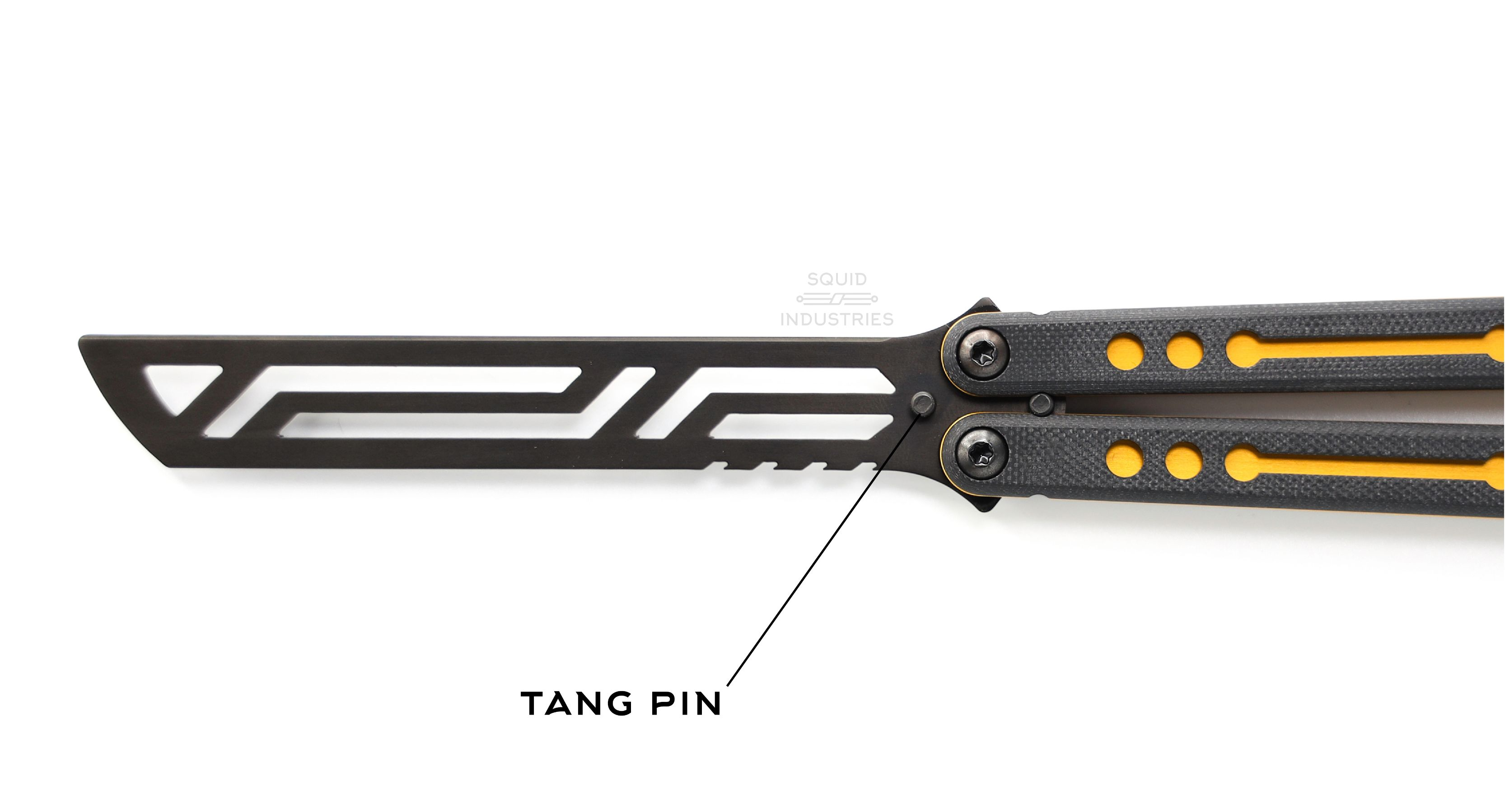 Inked Gold Nautilus Balisong Butterfly knife Trainer | Squid Industries