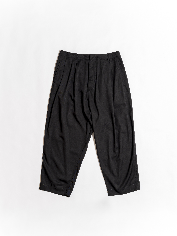 Drop Crotch Linen Trousers - Black