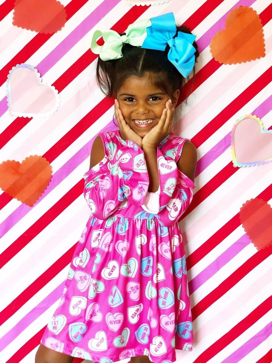 BR in Candy Heart Cold Shoulder Dress