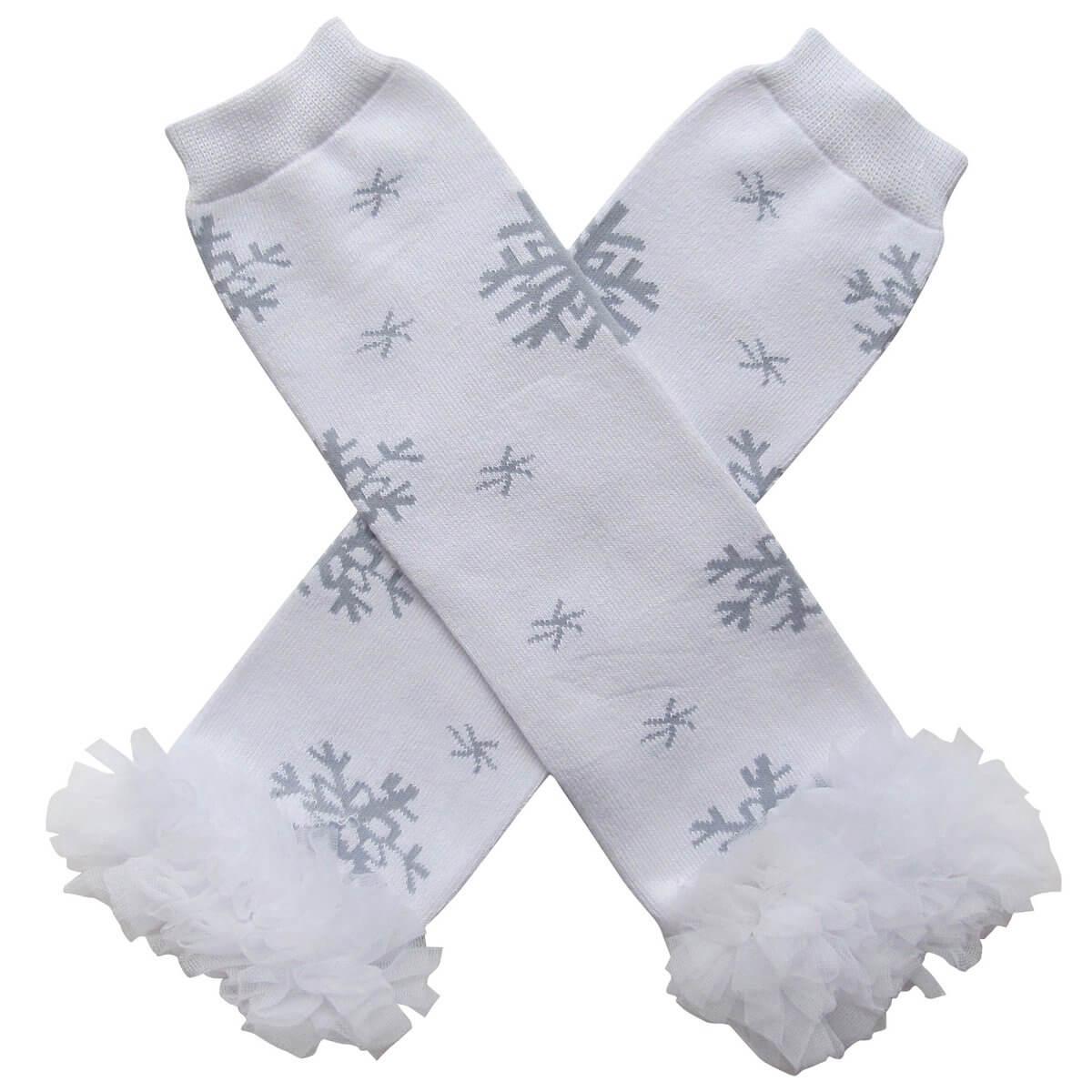 Snowflake Chiffon Legwarmers
