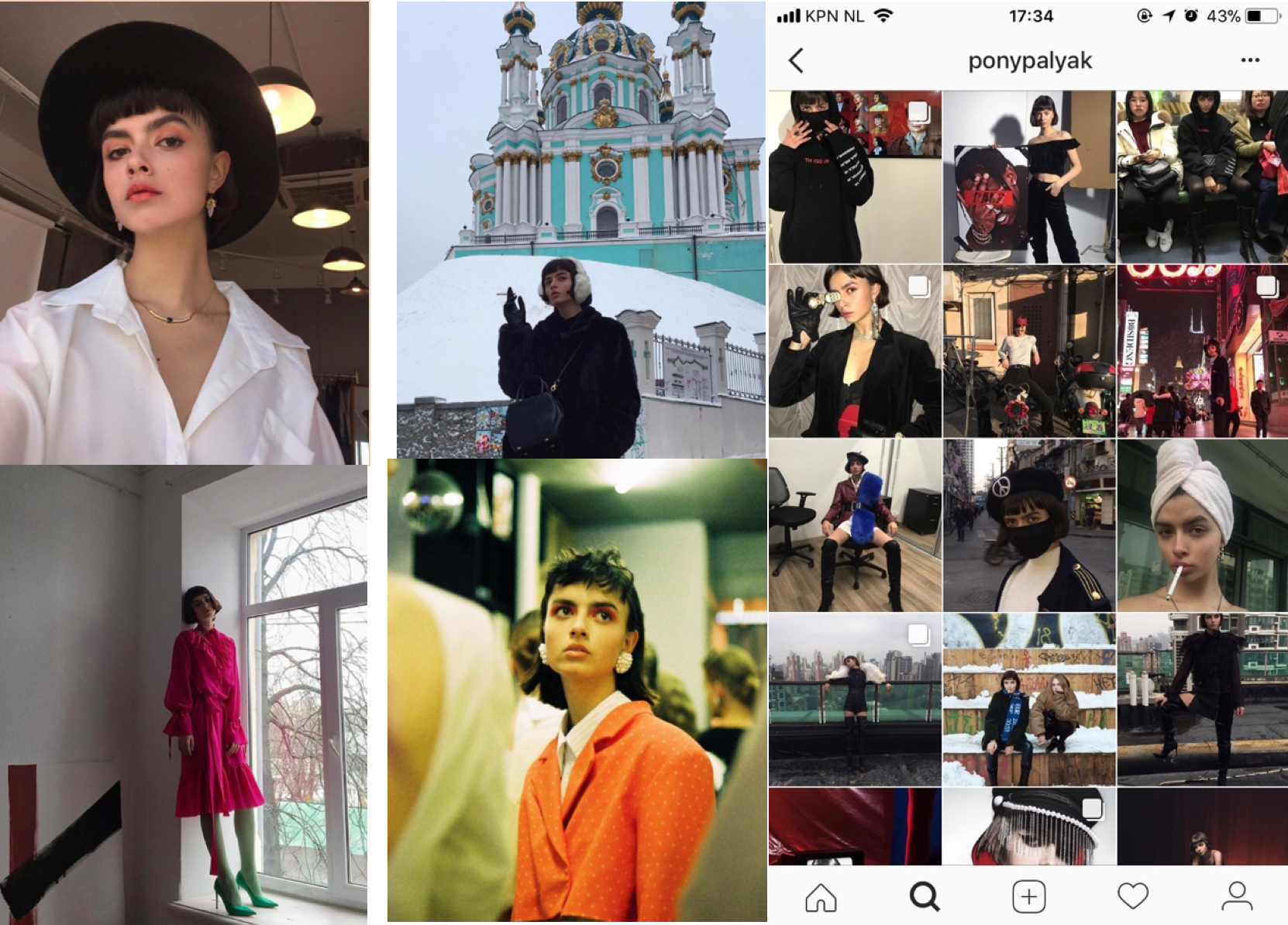 ukraine fashion Instagram account ponypalak