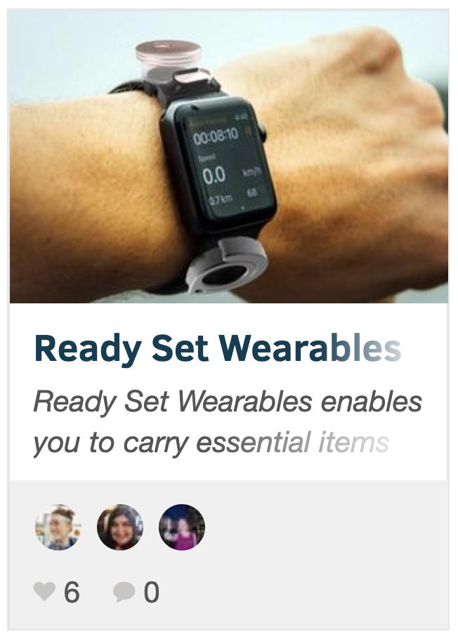 Ready Set Wearables on DevPost