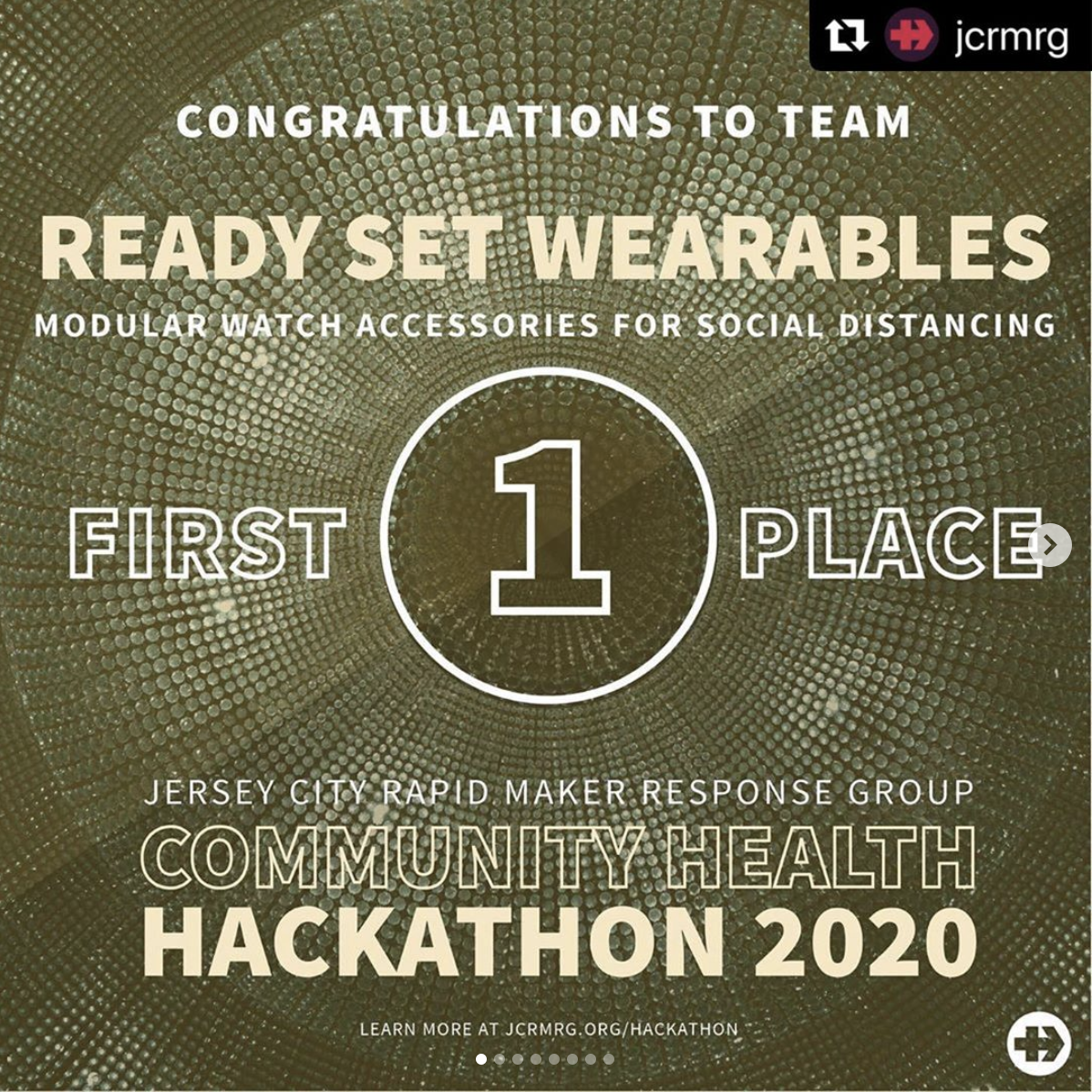 Ready Set Wearables First Place Jersey City Rapid Maker Response Group Hackathon