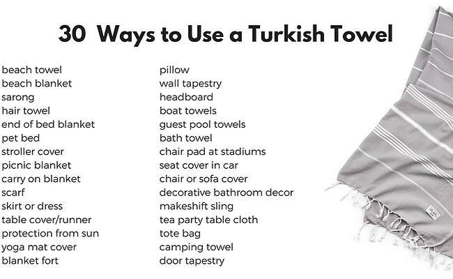 30 Ways to Use a Turkish Towel