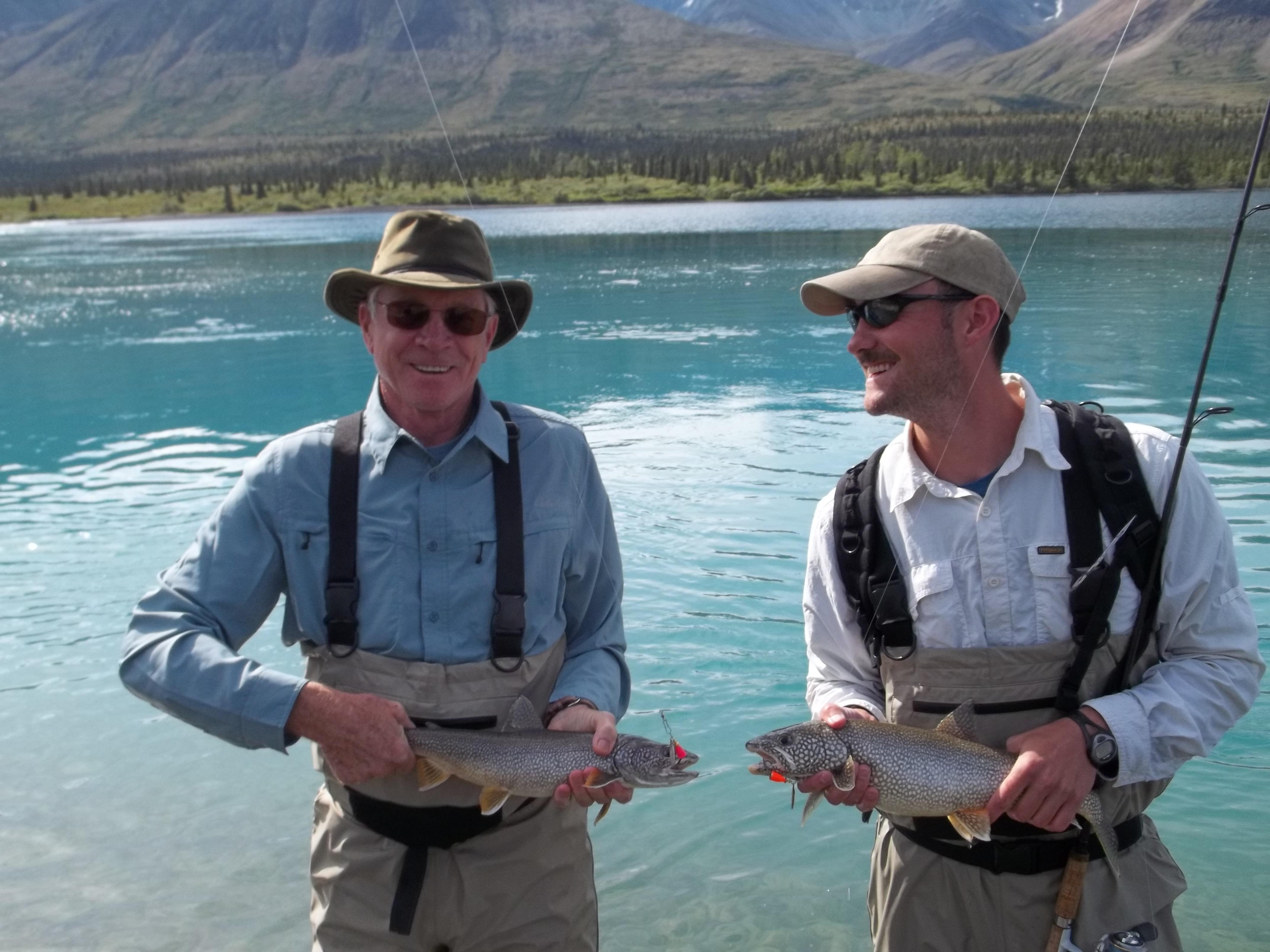 Dad and Evan in Alaska