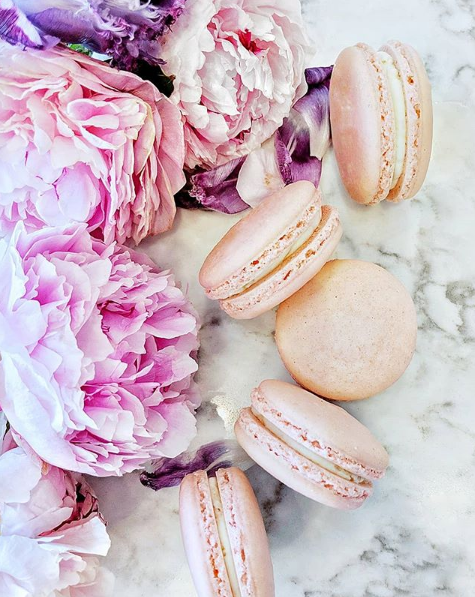 Rose Lychee Macarons