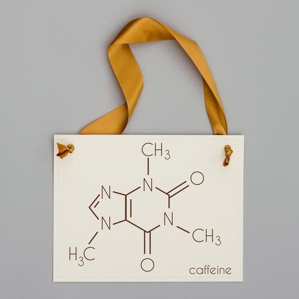 Caffeine Molecule Sign