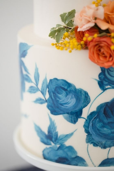 Watercolor Floral Cake
