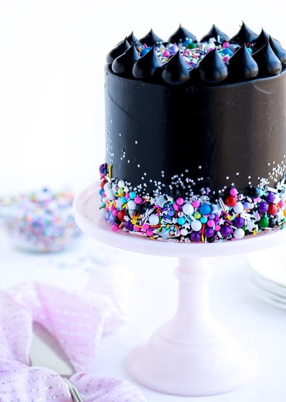 Black Galaxy Cake