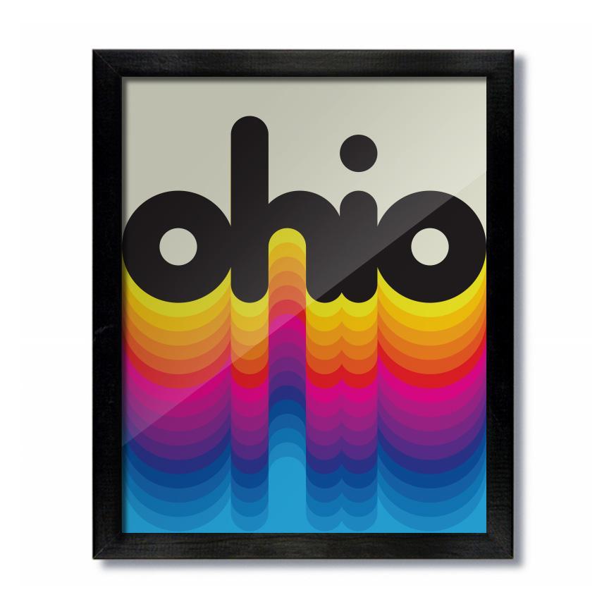 Ohio Rainbow Poster