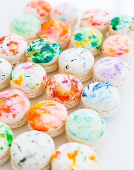 Sugar + Cloth DIY Marbled Macarons