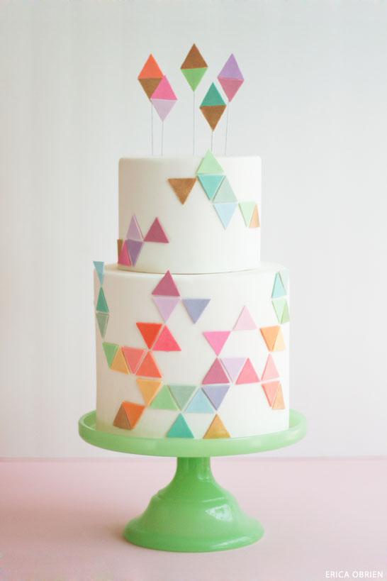Pastel Triangle Geo Cake