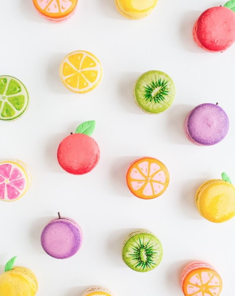 DIY Fruite Macarons
