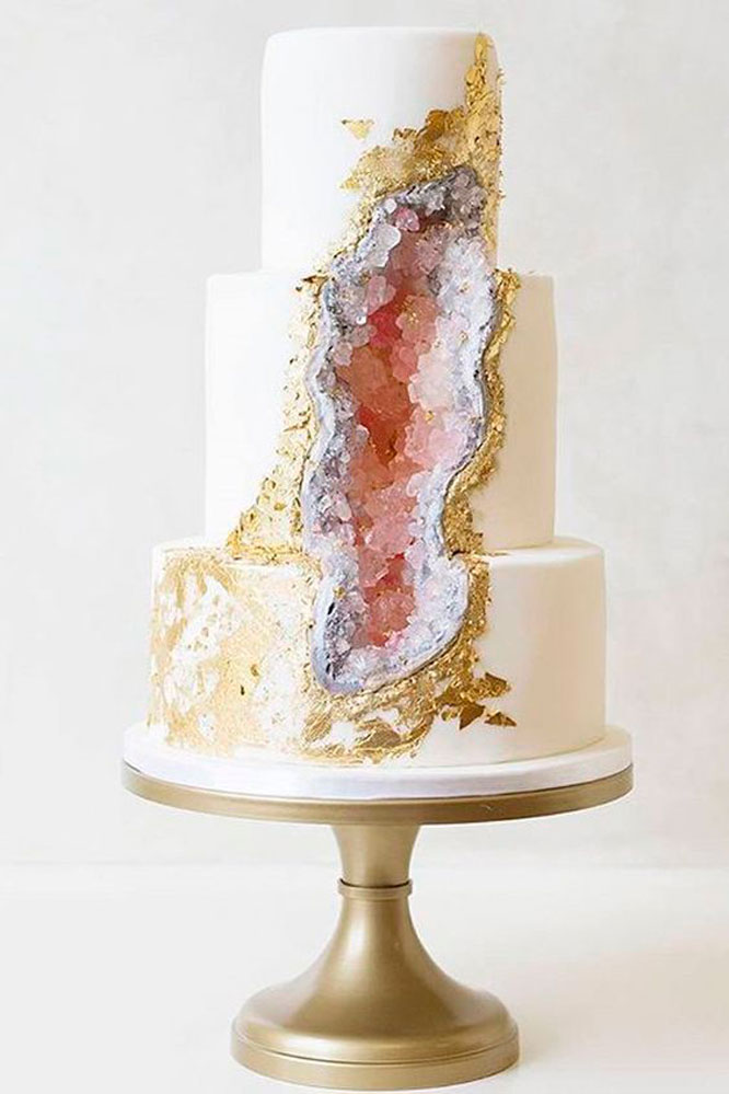 Pop Sugar Geode Wedding Cake