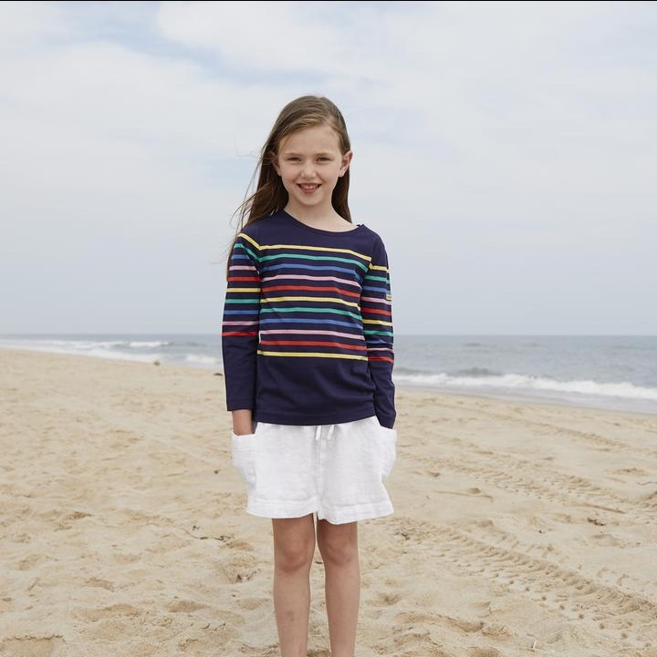 children rainbow striped shirt