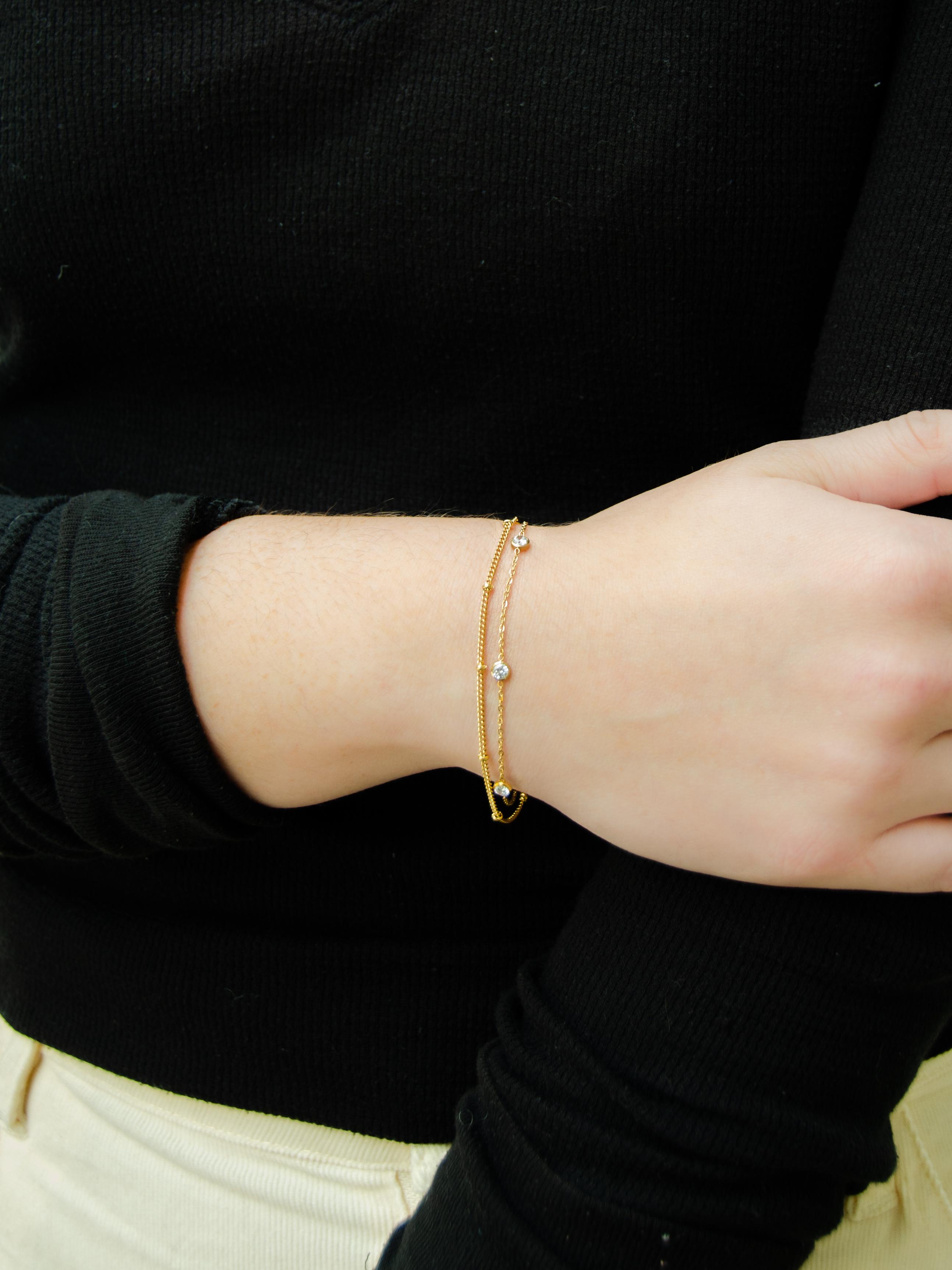 14K Gold Layered Bracelet