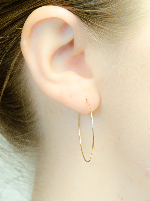 14K Gold Lightweight Hoop Earrings