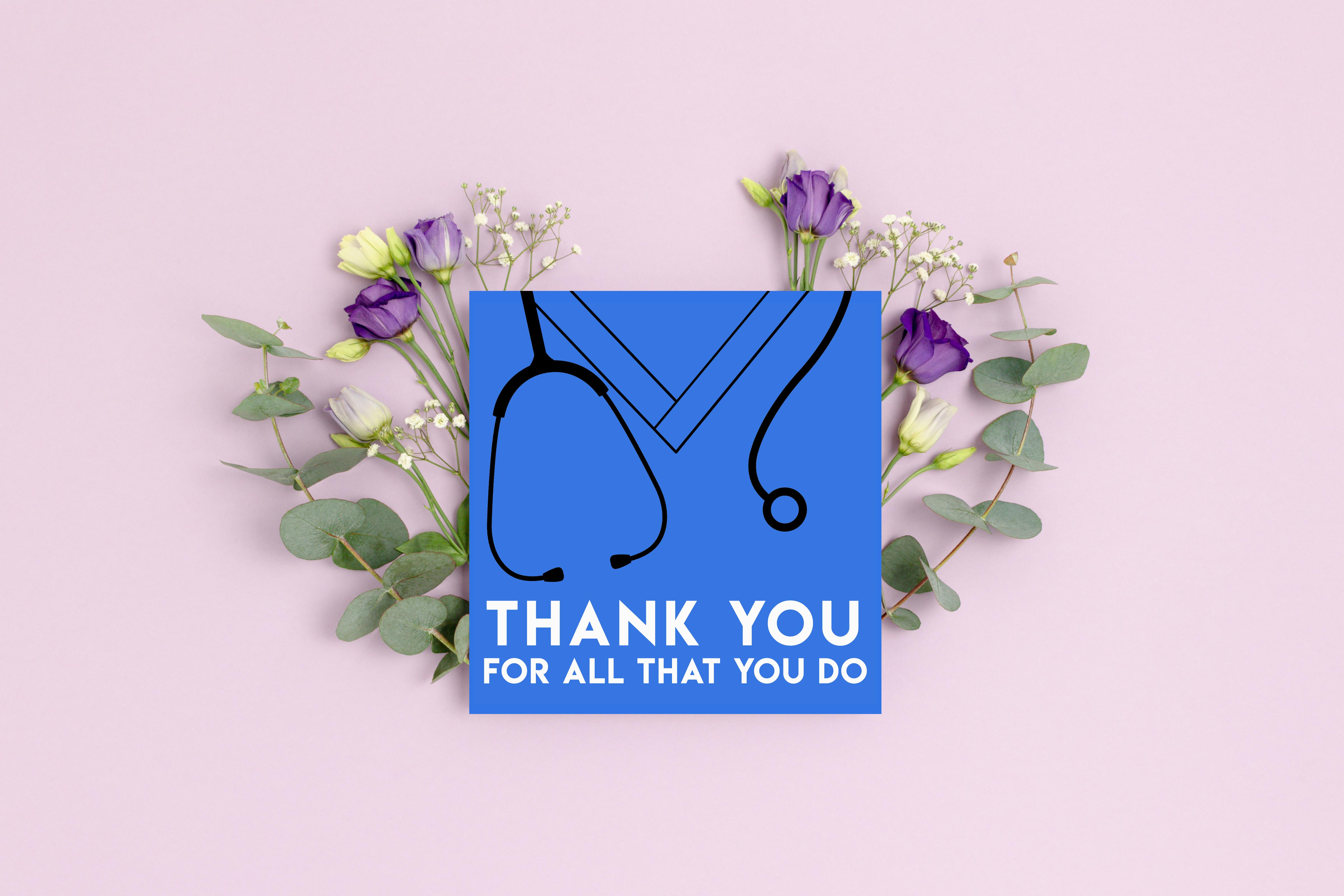 Thank You Healthcare Worker Card