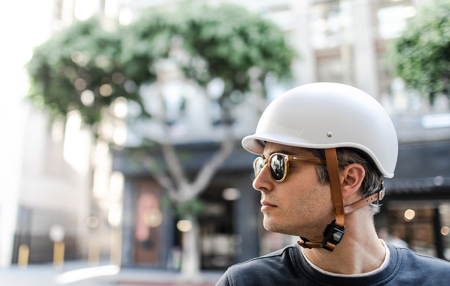 David wearing grey bike helmet