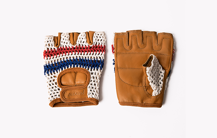 knit retro bike gloves
