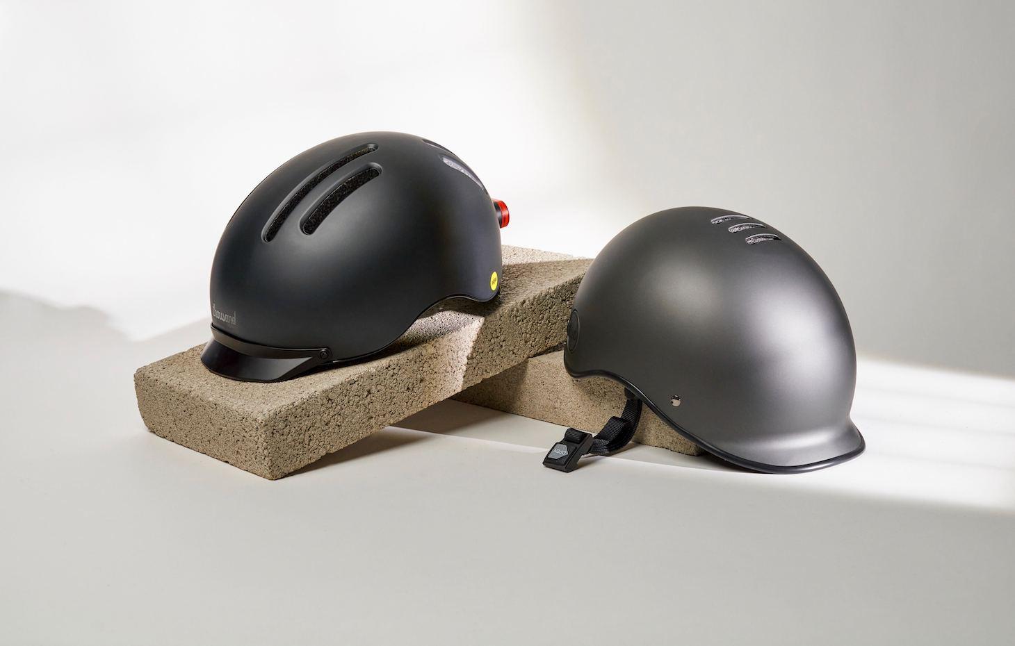 black bike helmets