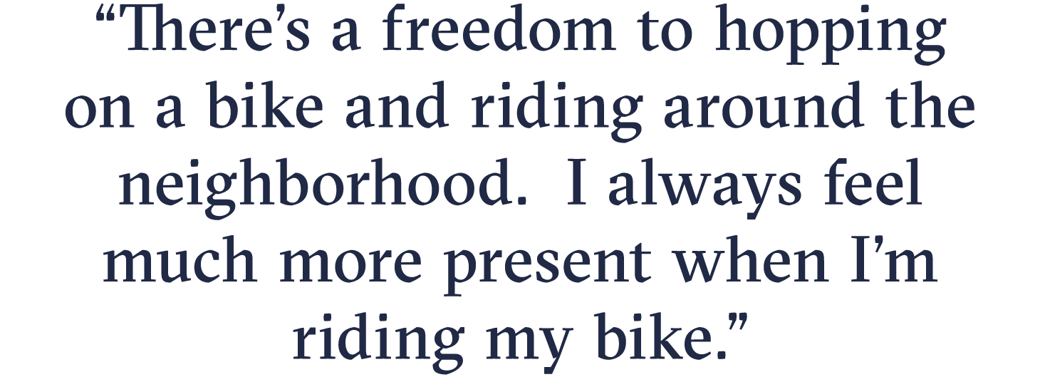Freedom to bike