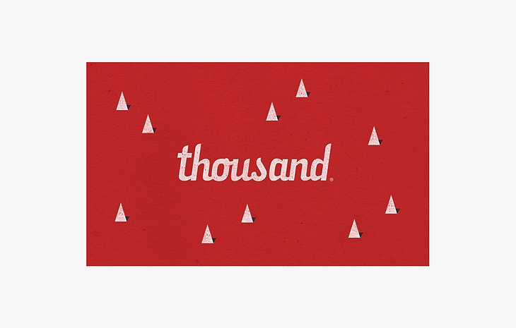 Thousand gift card