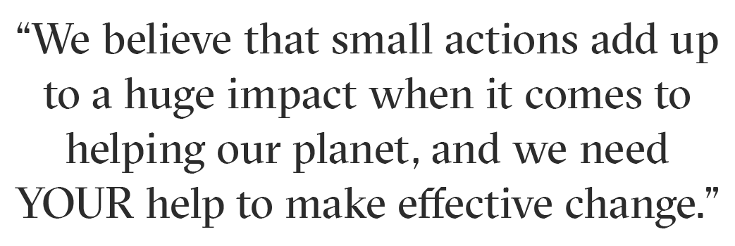 Small Actions Add Up